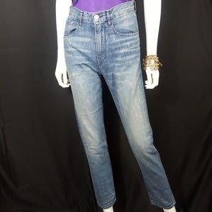 3x1 Highwaist Paint Splatter Skinny Jeans